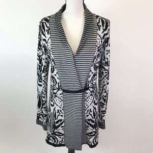 Christopher&Banks Print Cardigan Sweater M